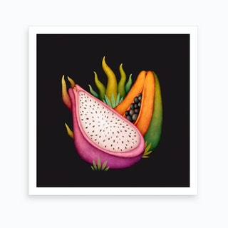 Tropical Fruits Art Print