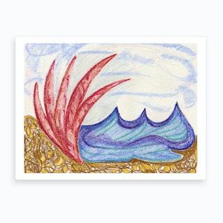 Wormiston Sea View Art Print