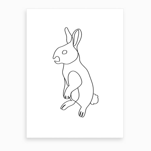 Easter Bunny I Art Print