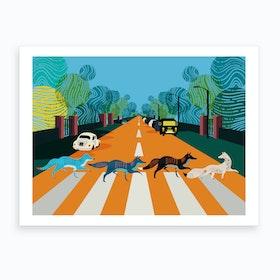 Abbey Road Foxes London Art Print