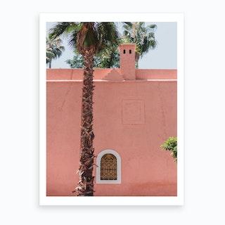 Pink N Palm  Art Print