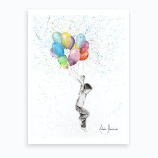 The Joy Of Balloon Boy Art Print