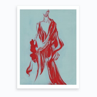 Red Aurora Art Print