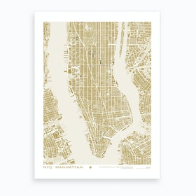 New York Gold Art Print