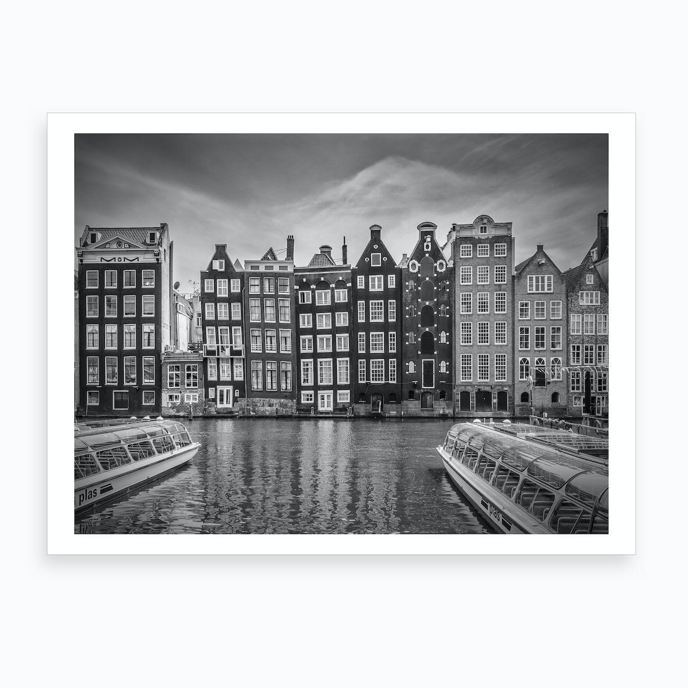 Amsterdam Damrak and Dancing Houses Art Print