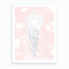 Balmain Runway Art Print