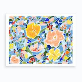 Summery Floral Art Print