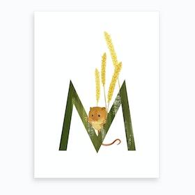 M Mouse Art Print