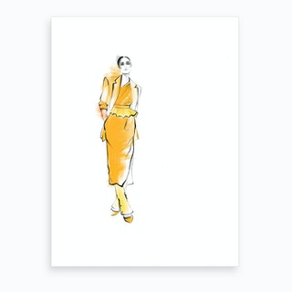 Kaia Gerber Art Print
