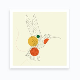 Hummingbird Square Art Print