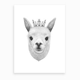The King Llama Art Print