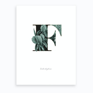 Flower Alphabet F Art Print