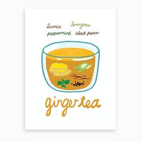 Ginger Tea Art Print
