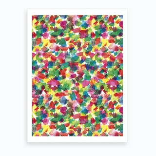 Spring Colors Multicolored Art Print