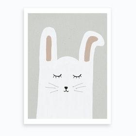Sleepy Rabbit Art Print