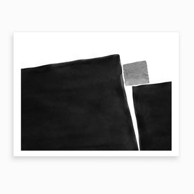 Minimal Black And White Abstract 04 Art Print