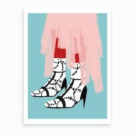 Socks And Sandals Art Print