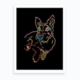 Jasper The Dog Art Print