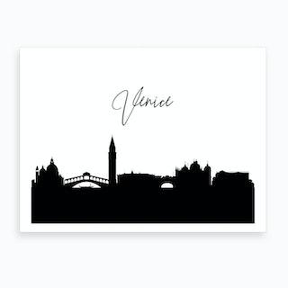 Venice Skyline Art Print