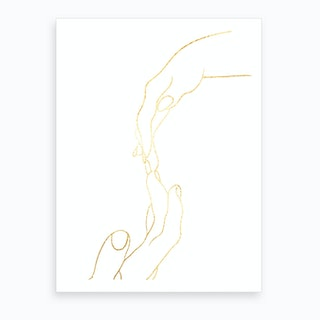 Hand To Hold Ii Art Print