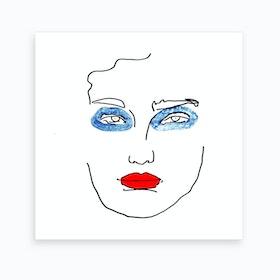War Paint Blue Art Print