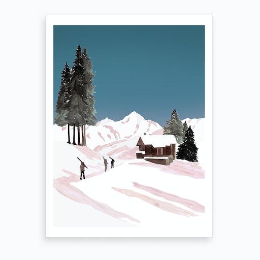 Mountain Love   Hometime Art Print