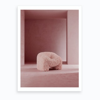 Hydrangea Chair Art Print