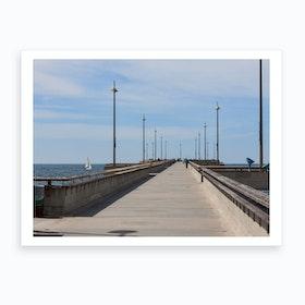 Venice Beach Pier Art Print