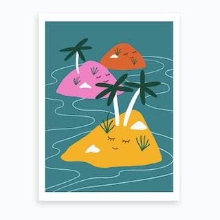 Sleeping Islands Art Print