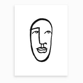 Faces 7 Art Print