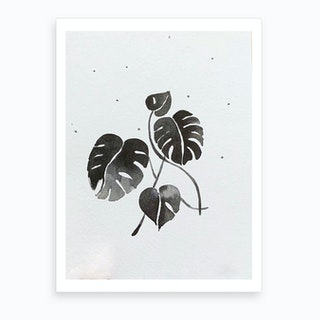Wintermonstera Art Print