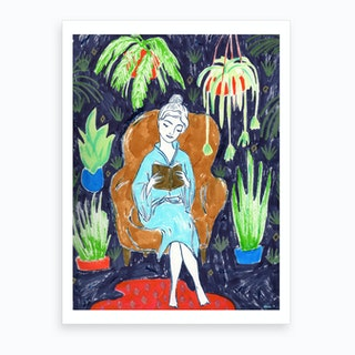 Jungle Reading Room  Art Print