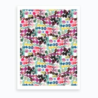 Ink Bleeding Dots Pink Art Print