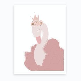 Princess Swan Art Print