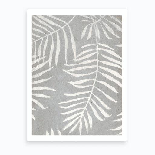 White Leaves Art Print