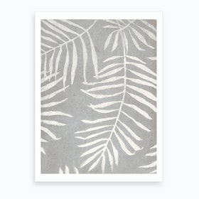 White Leaves Art Print