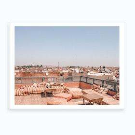 Marrakech Morocco Roof Top View 2 Art Print