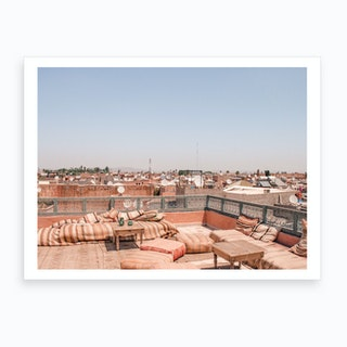 Marrakech Morocco Roof Top View 2 Art Print