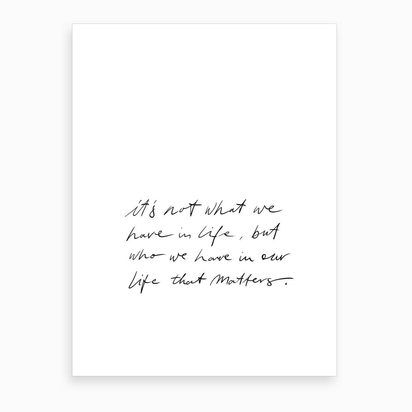 Matters Art Print