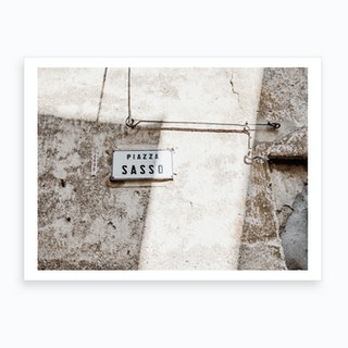 Piazza Sasso Art Print