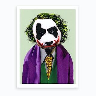 The Joker Panda Art Print
