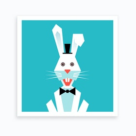 Kids Room Rabbit Art Print