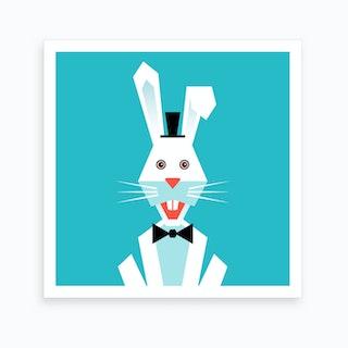 Kids Room Rabbit Art Print