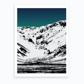 Iceland Mountains II Art Print