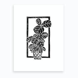 Fiddle Fig Leaf Art Print
