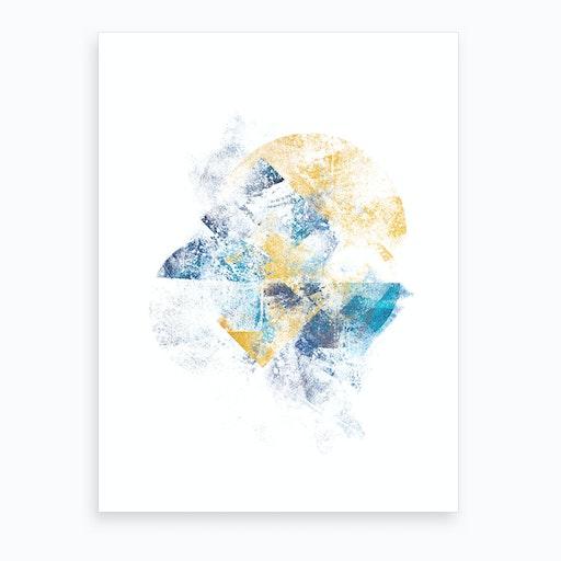 Mystic Horizon   Abstract Painting Vi Art Print