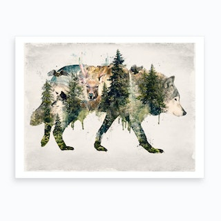 Walk With Wolves Art Print