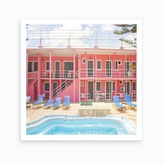 Pink Palace Pool Art Print