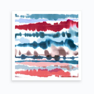 Soft Nautical Watercolor Lines Art Print