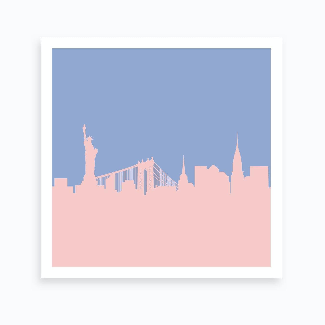 New York Rose Quartz Art Print